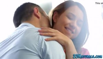 Amateur redhead gal blows a rod and gets doggy styled