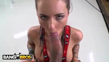 Hunks thick shlong made gal gagged with delight